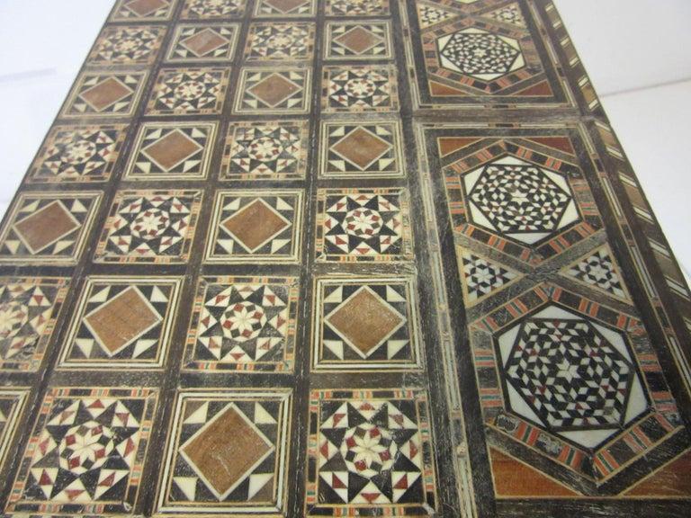 Backgammon Micro Mosaic Inlay Board / Moorish Syrian Styled 4