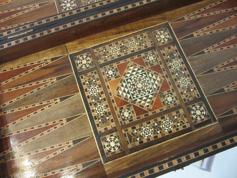 20th Century Backgammon Micro Mosaic Inlay Board / Moorish Syrian Styled