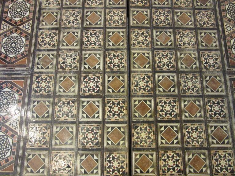 Backgammon Micro Mosaic Inlay Board / Moorish Syrian Styled 1