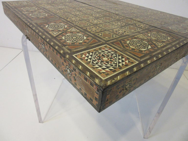Backgammon Micro Mosaic Inlay Board / Moorish Syrian Styled 2