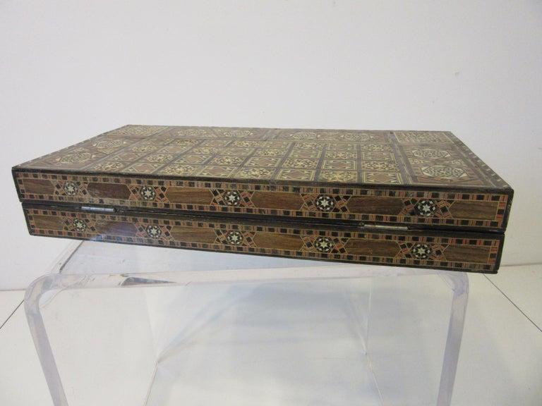 Backgammon Micro Mosaic Inlay Board / Moorish Syrian Styled 3