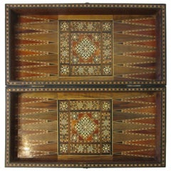Backgammon Micro Mosaic Inlay Board / Moorish Syrian Styled