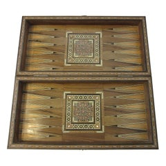 Backgammon Micro Mosaic Inlay Board / Moorish Syrian Styled