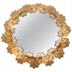 Backlit Mirror with Clear Glass Flowers by Ernst Palme, Germany, 1970s