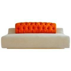 Baco Ivory Sofa by Sara Ferrari