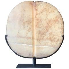 Bactrian Alabaster Disc Idol, 2nd Millennium B.C.