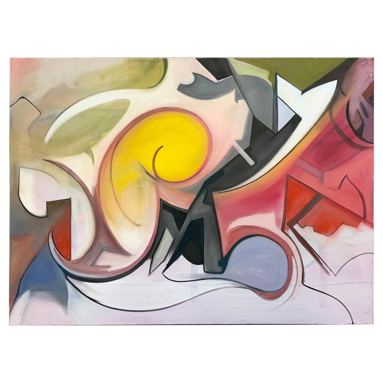 """""""Bad Ass Bosoms"""" Abstract Painting For Sale"""