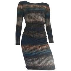 Badgley Mischka Sheath Ruched Dress Size 6.  Made in Canada.