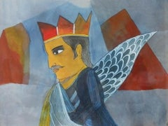 """Untitled, Mixed Media on Paper by Modern Indian Artist """"In Stock"""""""
