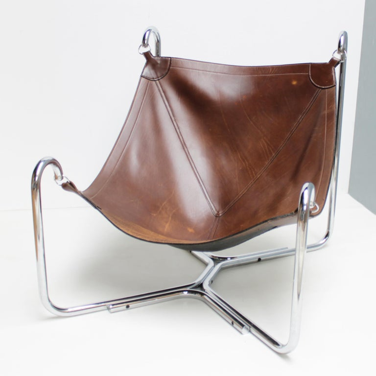 Mid-Century Modern Baffo Lounge Chair by Didone and Pareschi for Busnelli For Sale