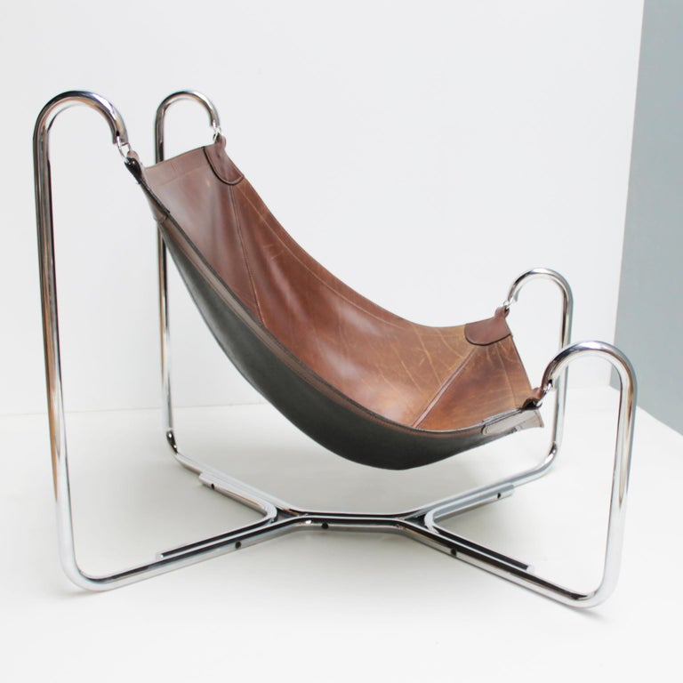 Italian Baffo Lounge Chair by Didone and Pareschi for Busnelli For Sale