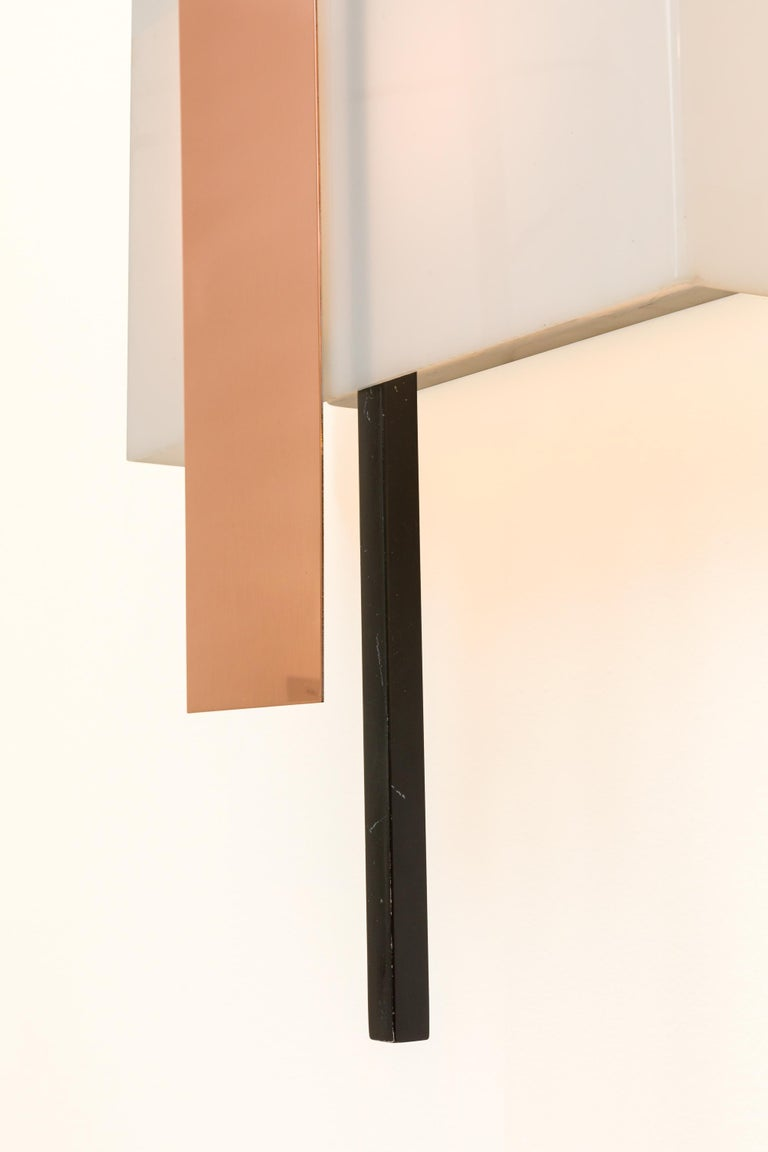 BAG Turgi Copper and Perspex Sconces, Switzerland, 1960s In Good Condition For Sale In New York, NY