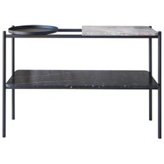 Bagnères Console Table Emperador 'Brown' and Marquina 'Black' Marble / Metal