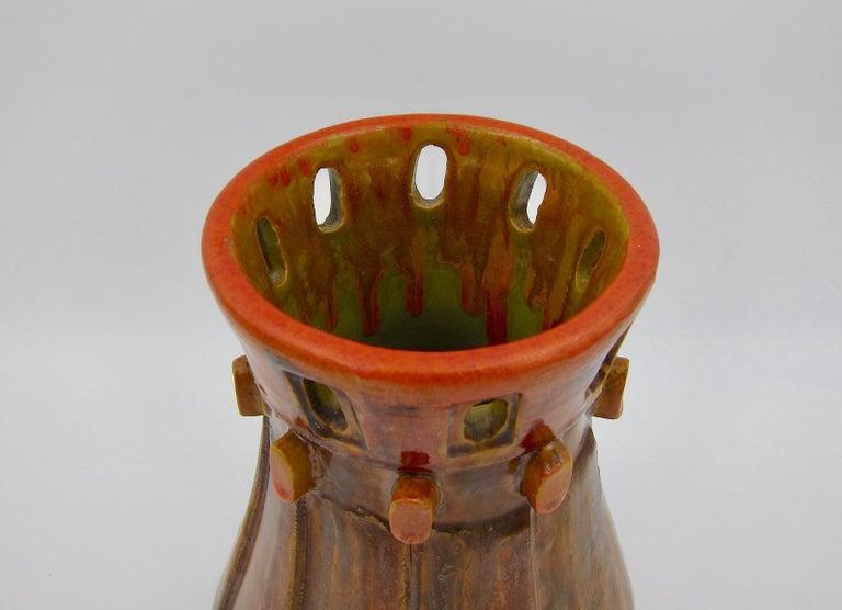 Bagni Ceramiche Italian Modern Vase Designed by Alvino Bagni for Raymor In Good Condition In Los Angeles, CA