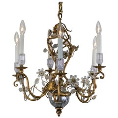 Bagues Crystal and Gilt Metal Chandelier