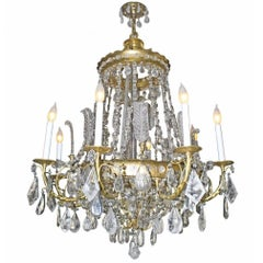 Bagues Rock Crystal and Ormolu Bronze Ballroom Chandelier
