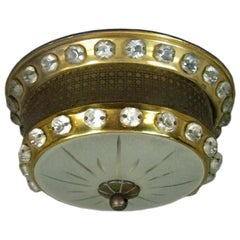 French Baguès Style Ceiling Fixture, circa 1940s