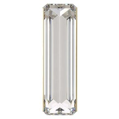Baguette Crystal and Brass Contemporary Wall Light, Wall Sconce