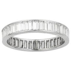 Baguette-Cut Diamond Full Eternity Ring