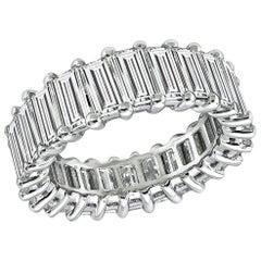 Baguette Cut Diamond Platinum Eternity Wedding Band