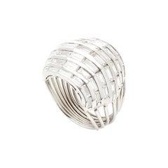 Baguette Cut Diamonds Cocktail Ring