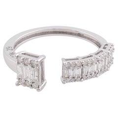 Baguette Diamond 10 Karat White Gold Ring