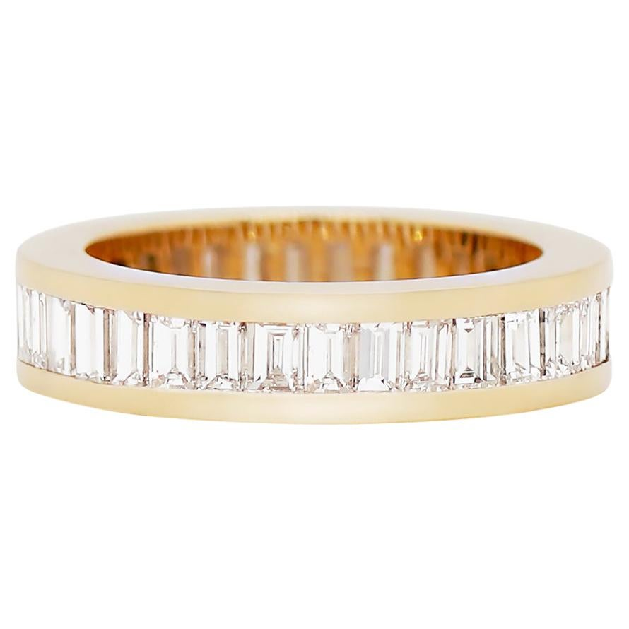 Baguette Diamond 18 Carat Yellow Gold Full Eternity Ring