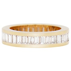 Baguette Diamond 18 Carat Yellow Gold Full Eternity Ring