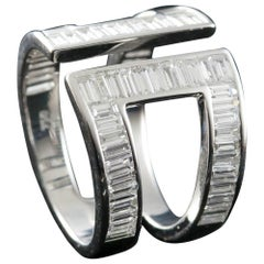 Baguette Diamond Fashion Ring in 18 Karat Gold