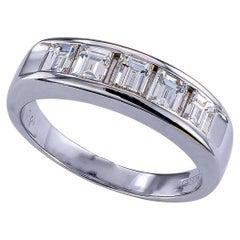 Baguette Diamond Platinum Wedding Ring