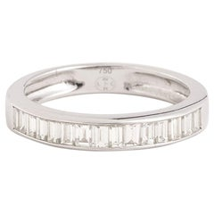 Baguettes Diamond 18 Carat White Gold Wedding Ring