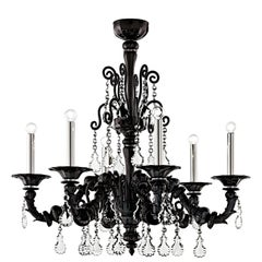 Baikal 5560 06 Chandelier in Glass & Polished Chrome Finish, by Barovier&Toso