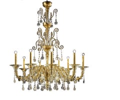 Baikal 5560 09 Chandelier in Glass, by Barovier&Toso