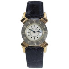Bailey Banks and Biddle 14 Karat Solid Gold Two-Tone Art Deco Watch, circa 1930s