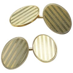 Bailey, Banks and Biddle 14 Carat Gold Cufflinks, circa 1955
