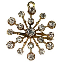 Bailey, Banks and Biddle Diamond Gold Snowflake Brooch Pendant