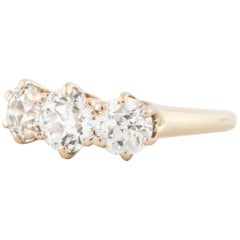 Bailey Banks & Biddle 18 Karat Three-Stone Diamond Ring