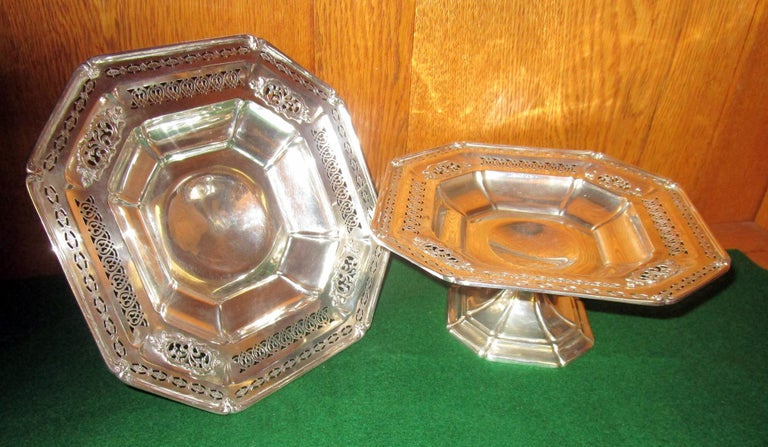 American Bailey Banks & Biddle Co. Sterling Silver Tazza, Pair For Sale