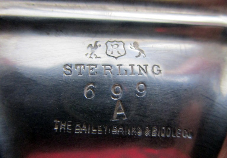 Bailey Banks & Biddle Co. Sterling Silver Tazza, Pair For Sale 1