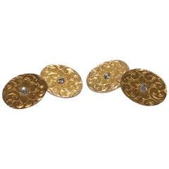 Bailey, Banks & Biddle Diamond and Gold Cufflinks, American, circa 1900