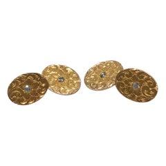 Bailey, Banks & Biddle Diamond and Gold Cufflinks, circa 1900