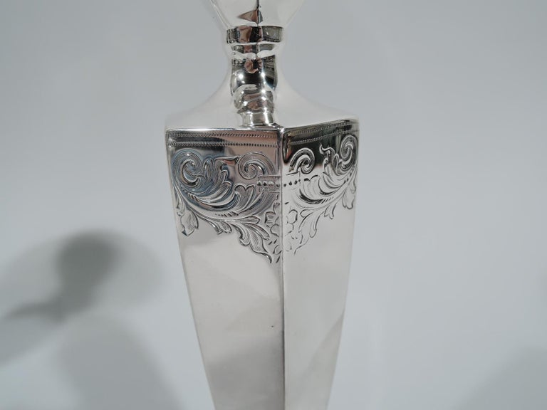 Regency Revival Bailey Banks & Biddle Edwardian Regency Sterling Silver Candlesticks For Sale