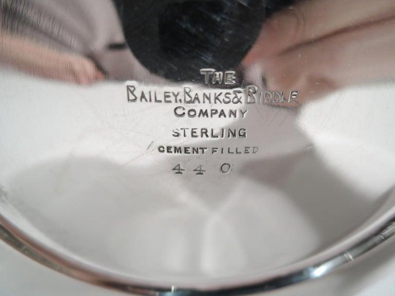 Bailey Banks & Biddle Edwardian Regency Sterling Silver Candlesticks For Sale 1