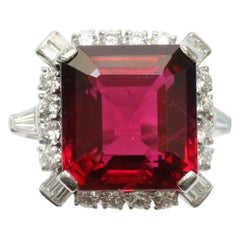 Bailey, Banks & Biddle Platinum, Rubelite and Diamond Ring
