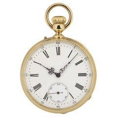 Bailley Levieux Open Face Pocket Watch Retailed by Golay Fils & Stahl