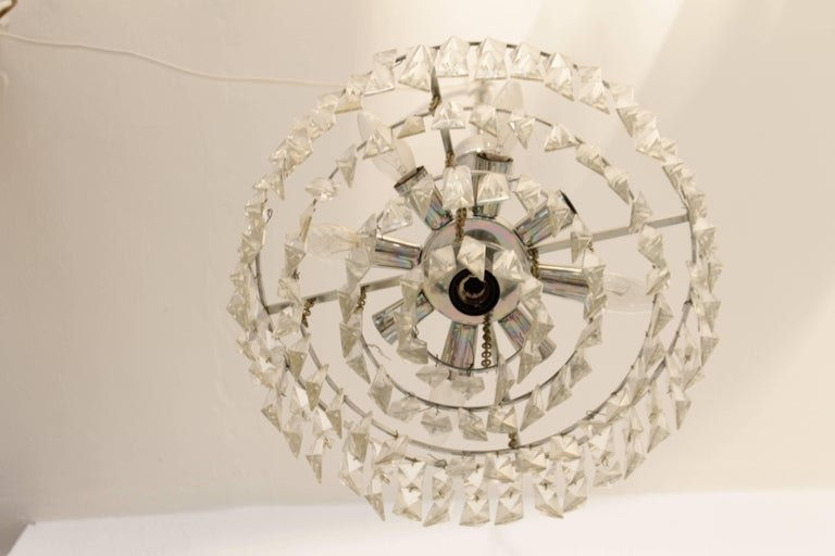 Mid-20th Century Bakalowits and Sohne Crystal Chandelier For Sale