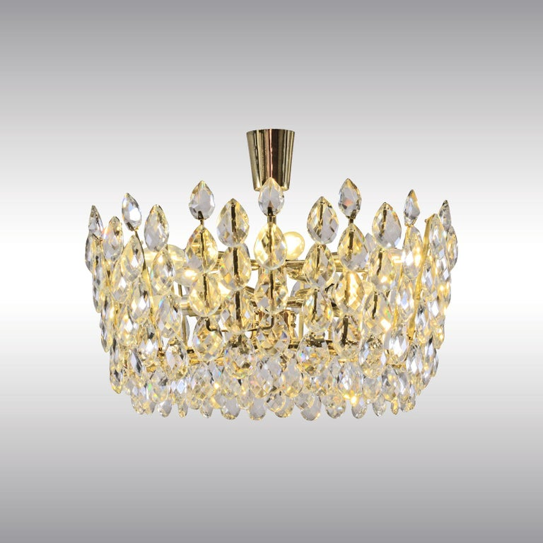 Mid-Century Modern Original Bakalowits Crystal Glass Chandelier Mid Century Modern 1960ies For Sale