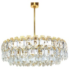 Bakalowits Chandelier, Brutalist Style and Crystal Glass, Austria, 1960s
