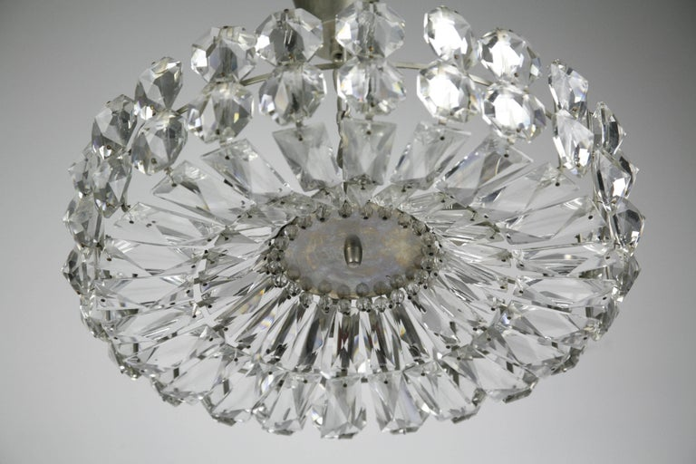 Bakalowits Crystal and Nickel Chandelier, 1960, Austria For Sale 3