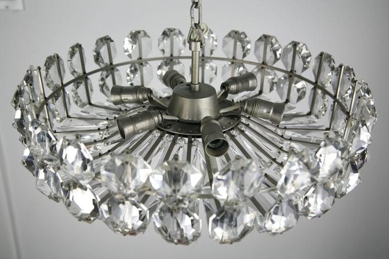 Austrian Bakalowits Crystal and Nickel Chandelier, 1960, Austria For Sale